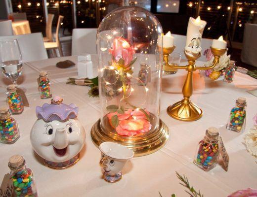 centros de mesa para boda inspirada en Disney