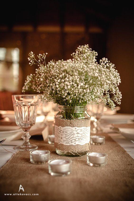 Los mejores centros de mesa para bodas sencillas - Bodas sencillas ...