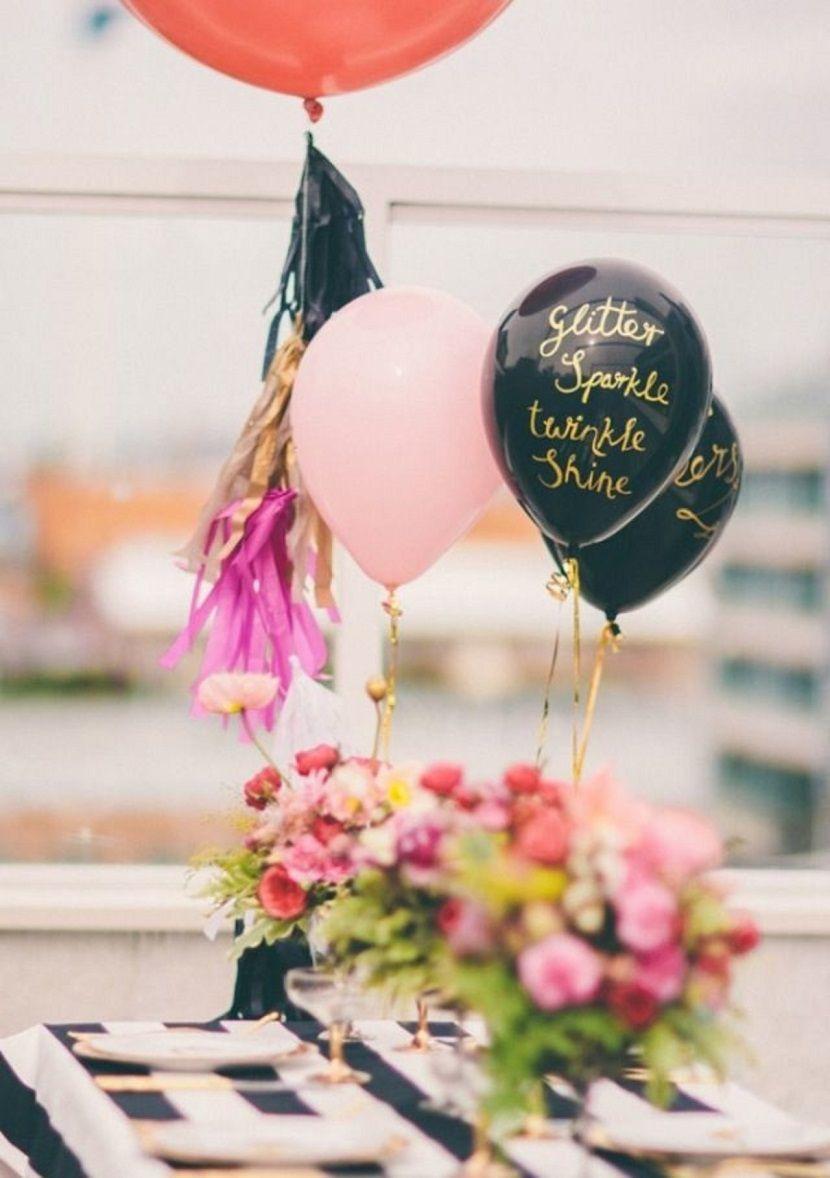 centros de mesa con globos para boda